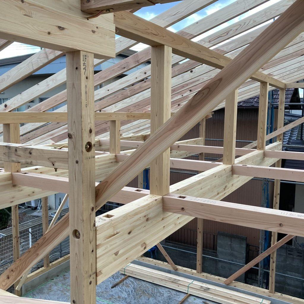 有限会社木下材木店|実績|(株)比留間建工様M様新築工事 上棟おめでとうございます。