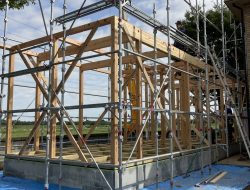 有限会社木下材木店|実績|(有)石井工務店T様邸増築工事上棟おめでとうございます。